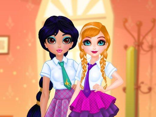 Play Princesses BFF Rush to School Now!