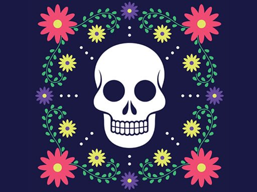 Play Colorful Skull Jigsaw Now!