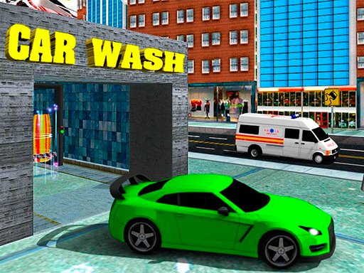 Play Sports Car Wash Gas Station Now!