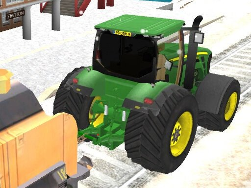 Play Chained Tractor Towing Train Now!