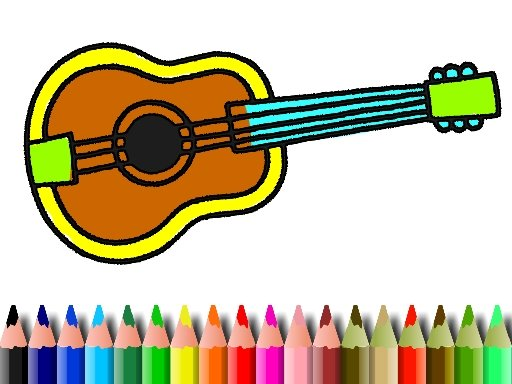 Play BTS Music Instrument Coloring Book Now!