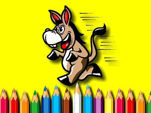 Play BTS Donkey Coloring Book Now!
