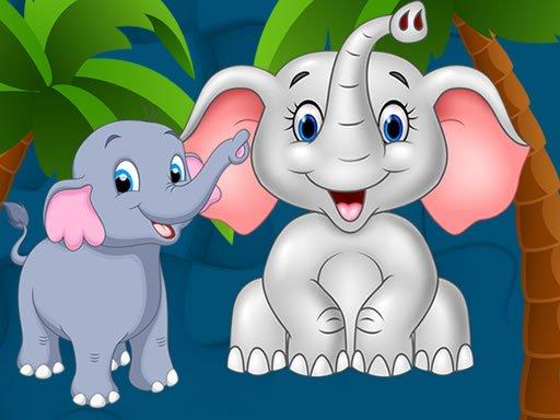Play Sweet Elephants Jigsaw Now!