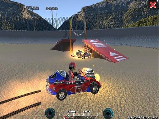 Play Demolition Cartoon Car Crash Derby Now!