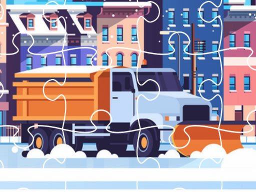 Play Snow Plow Trucks Jigsaw Now!
