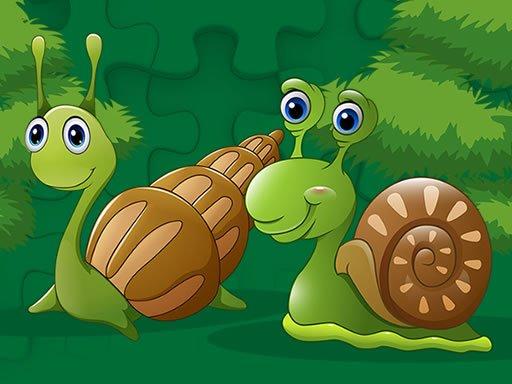 Play Cute Snails Jigsaw Now!