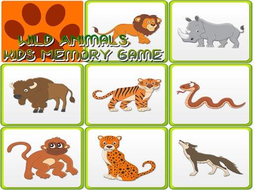 Play Kids Memory - Wild Animals Now!
