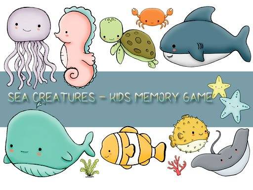 Play Kids Memory Sea Creatures Now!