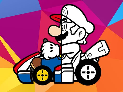 Play Mario Driving Coloring Book Now!