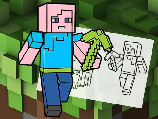 Play Minecraft Fun Coloring Book Now!