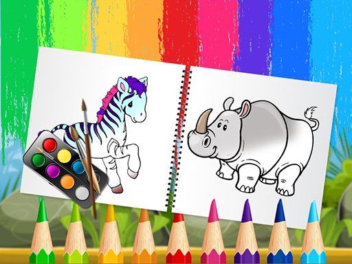 Play Funny Animals Coloring Book Now!
