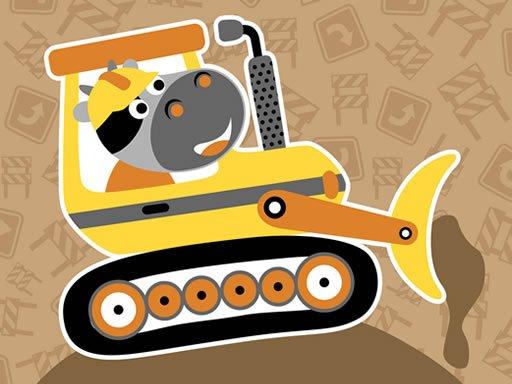 Play Construction Trucks Hidden Now!