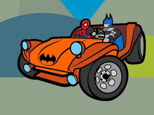 Play Superhero Cars Coloring Book Now!