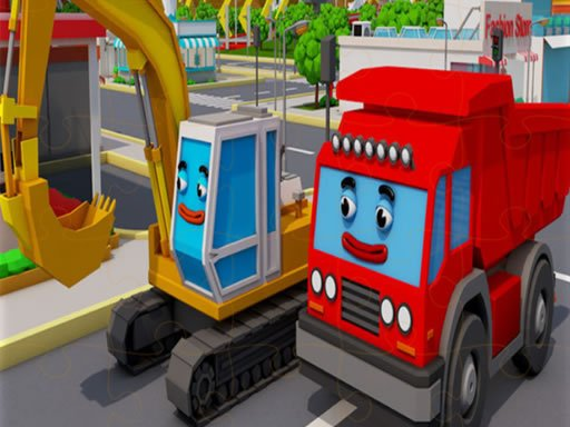Play Trucks and Digger Jigsaw Now!