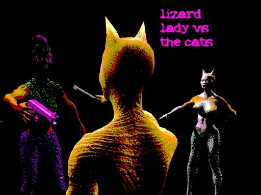 Play Lizard Lady vs the Cats Now!