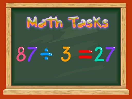 Play Math Tasks -True or False Now!