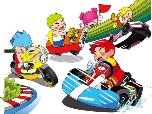 Play Cartoon Kart Puzzle Now!