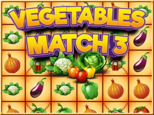 Play Vegetables Match 3 Now!