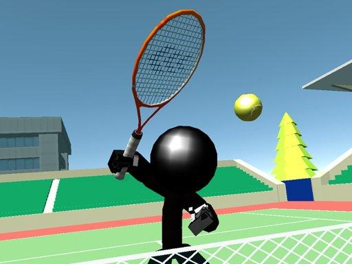 Play Stickman Tennis 3D Now!