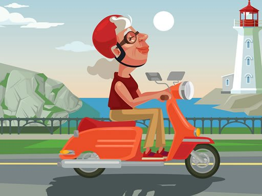 Play City Scooter Ride Coloring Now!
