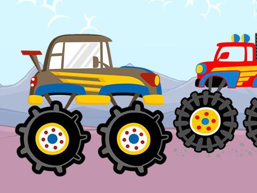 Play Fun Monster Trucks Jigsaw Now!
