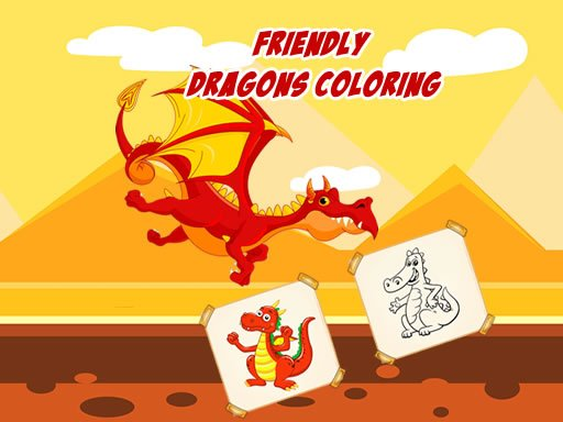 Play Friendly Dragons Coloring Now!