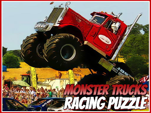 Play Monster Trucks Racing Puzzle Now!