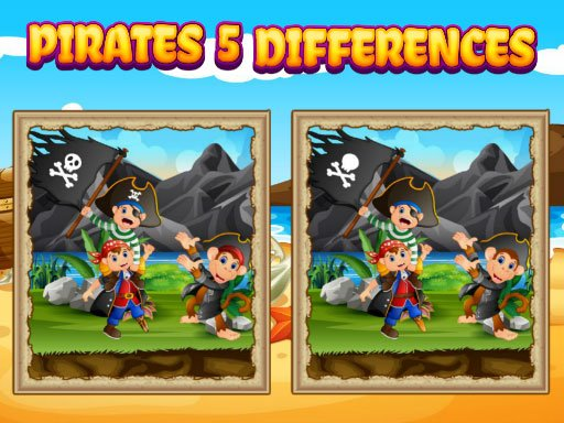Play Pirates 5 Differences Now!