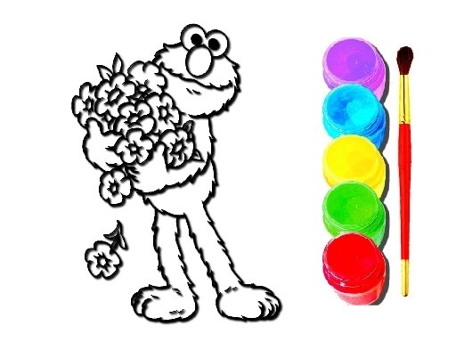 Play Elmo Coloring Book Now!