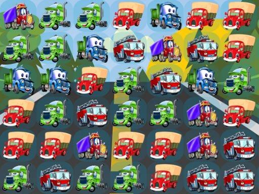 Play Cartoon Trucks Match 3 Now!