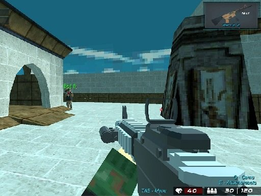 Play Blocky Shooting Arena 3D Pixel Combat Now!