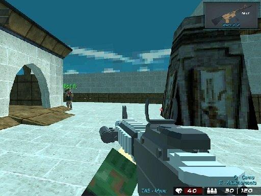 Play Blocky Shooting Arena 3D Pixel Combat Now!