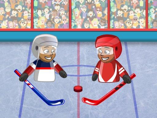 Play Puppet Hockey Battle Now!