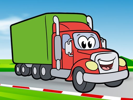 Play Happy Trucks Coloring Now!