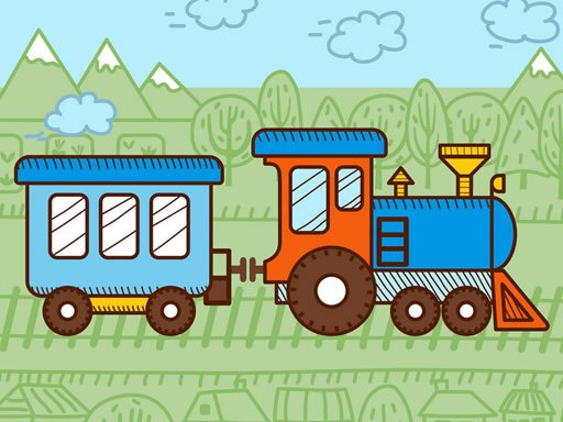 Play Trains For Kids Coloring Now!