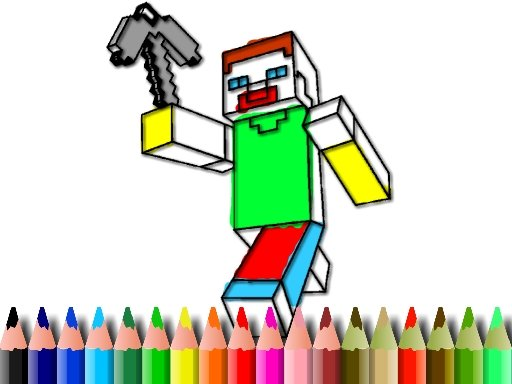 Play BTS Minecraft Coloring Now!