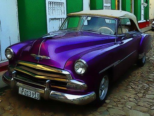 Play Cuban Vintage Cars Jigsaw Now!