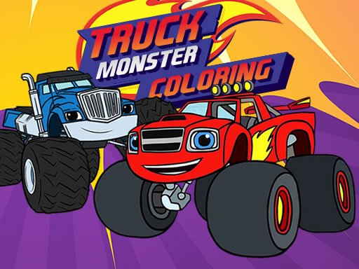 Play Blaze Monster Truck Coloring Book Now!