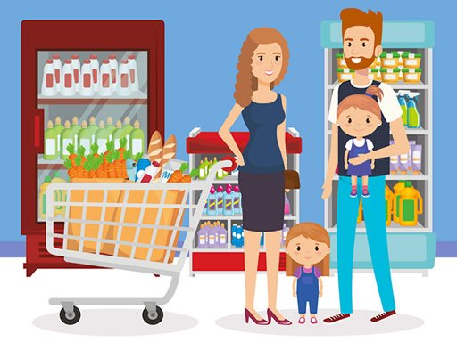 Play Happy Shopping Jigsaw Now!