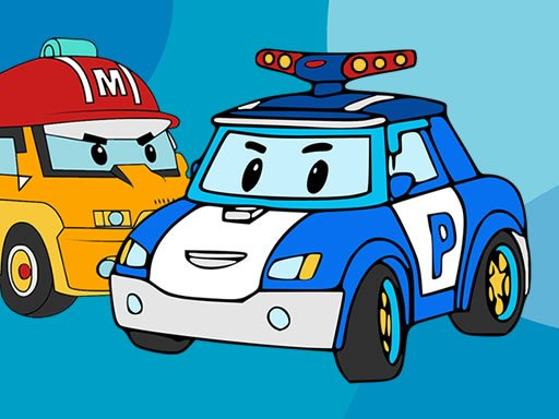 Play Robocar Poli Coloring Book Now!
