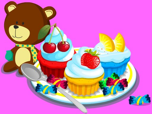 Play Cooking Colorful Cupcakes Now!