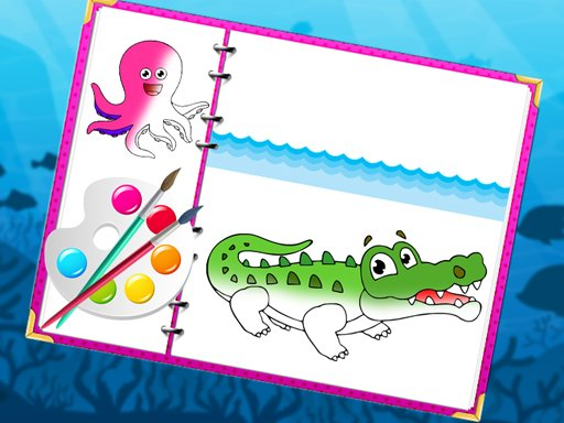 Play Sea Creatures Coloring Book Now!