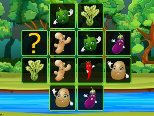 Play Vegetable Cards Match Now!