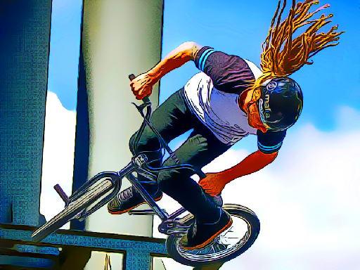 Play BMX Bikers Jigsaw Now!
