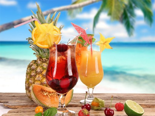 Play Summer Drinks Puzzle Now!