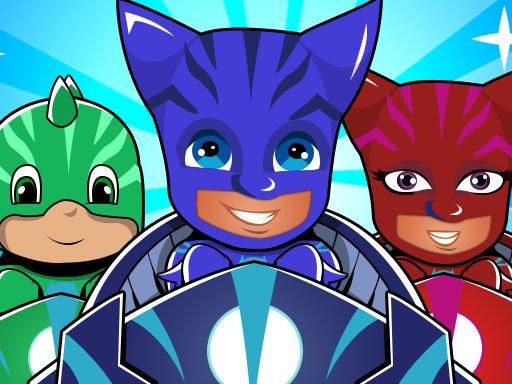 Play Pj masks kids Car Racing 3d Now!