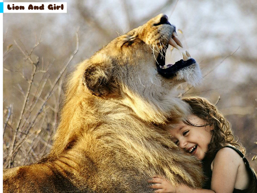 Play Lion And Girl Jigsaw Now!