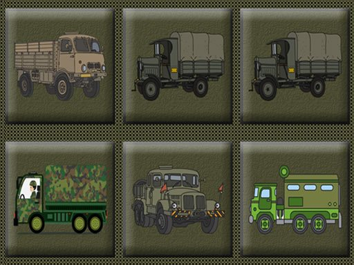 Play Army Trucks Memory Now!