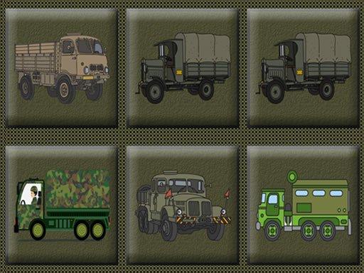 Play Army Trucks Memory Now!