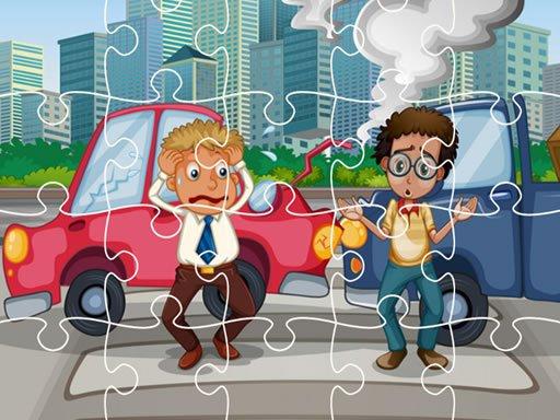 Play Crash Car Jigsaw Now!
